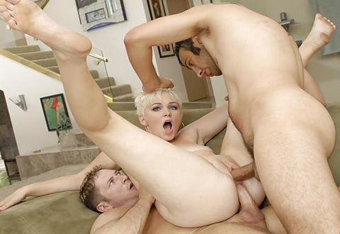 Vurige dubbele penetratie