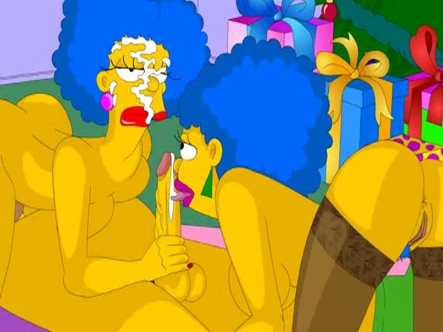 Homer heeft een trio onder de kerstboom